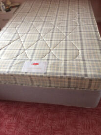 Bed Divan 4' wide (Small Double). 4 large storage drawers. Headboard not included. Benhall area..