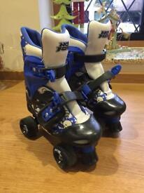 Blue & Black No Fear Roller Skates 1-4