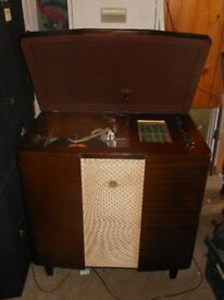 Rare Philips 544A working Radiogram with turntable