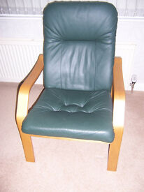 Two Occasional Chairs In Green