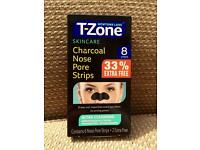 Newtons Lab T-Zone charcoal nose pore strips, x8