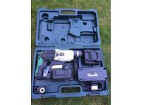 Hitachi 24v cordless hammer drill & 2 batteries