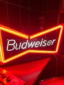 Bar neon BUDWEISER sign NOT l.e.d