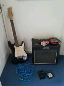Electric Guitar, Amplifier and leads
