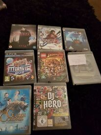 Job Lot of 7 PS3 Games and 1 Bluray Film