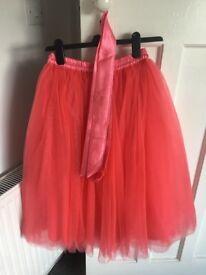 Elsie's Attic Tutu - pink/red (size 12)