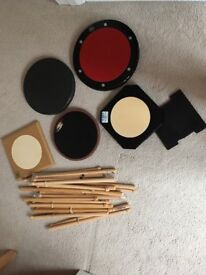 Pipe Band Drum Sticks & Practice Pads