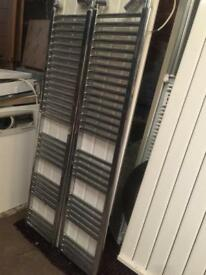 Chrome straight towel radiators for sale