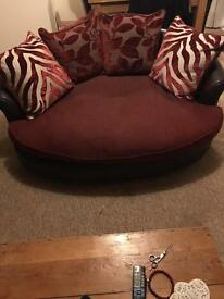 Four seater sofa and two seater cutler chair