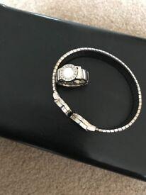 Bvlgari ring and matching bracelet
