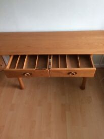 Ercol side table, limited edition only 225 made, very good condition, solid Elm top.