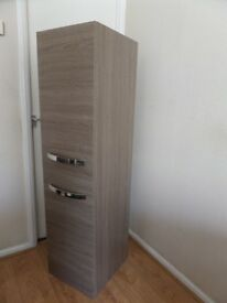 RAK HIGH TWO DOOR BATHROOM CABINET IN WOOD EFFECT -1570 X400X450MM - RRP £799.99