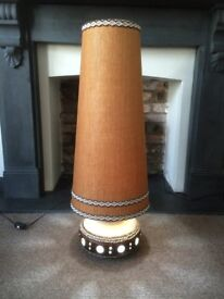 Vintage Mid Century West German Floor Lamp and Shade. Fat Lava. Retro. Fully Working.
