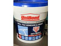 Unibond wall tile adhesive and grout. 1.28kg - white