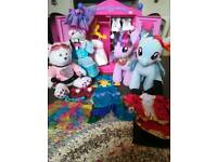 Build a bear wardrobe + clothes +pony + bear bundle