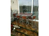 Garden set tables and chairs