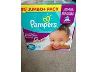 Pampers nappies size 5+ jumbo pack of 58