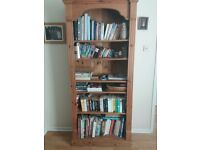 Pine Bookcase Used Condition with marks and scratches