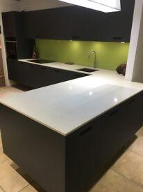 Schuller Lava Black Glass Kitchen