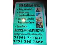 House and garden maintenance service