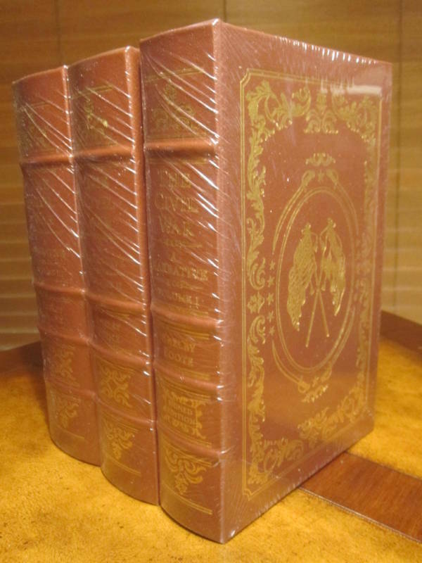 Easton Press CIVIL WAR 3 vol Shelby Foote SIGNED SEALED