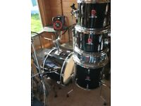 Premier Royale classic 5 drum kit with hardware and Paiste 101 cymbals - excellent condition