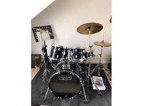 Mapex Tornado Plus Drum Kit in Royal Blue
