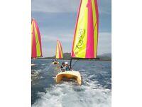 Laser Funboat catamaran sailing dinghy