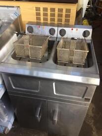 Double basket Electeric fryer