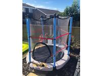 4.5ft Child Trampoline with Safety Net and skirt