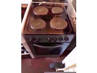 Electric Cooker - BUSH 50 cm- Hotplate - White - Single Oven and grill ..