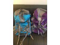 Two large Karrimor hiking backpacks