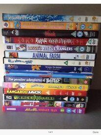 Kids DVD bundle pg & u rated films. Genuine originals. 16 films