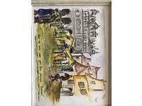 Original 1940's watercolour picture