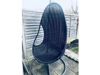 Outdoor Wicker Hanging Egg Chair £120 ono
