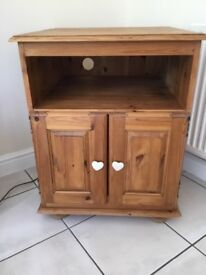 Television cabinet solid pine.