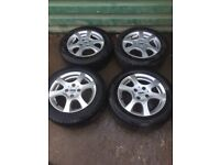 Ford Focus MK1 6 Spoke set of 4 alloy wheels with good tyres