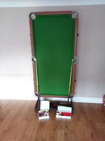 6 foot folding snooker / pool table