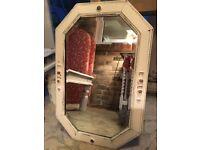 Shabby Chic Oak Bevelled Heavy Vintage Mirror