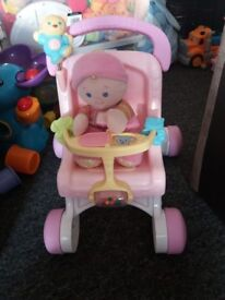 Fisher Price My First Pushchair And Doll