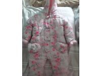 Girl 6 to 12 months snowsuit