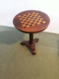 Walnut chess table