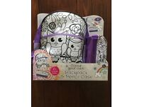 Backpack and pencil case