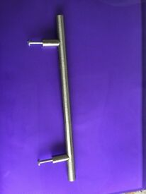 £1 each Brushed nickel effect T bar handles