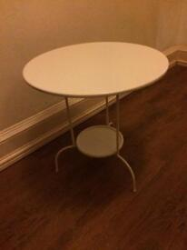 Beautiful White Metal Circle Table