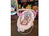 Baby bouncer Comfort Harmony Pink chair