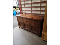 Barker and Stonehouse Sideboard in dark Solid Oak (Delivery available)