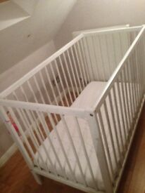 Basic cot and mattress , FREE !! Pick up only