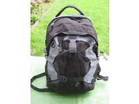 Black Fabric with Grey Trim Backpack for £7.00