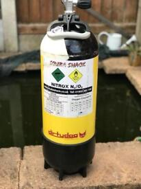 For sale two air cylinder 15 l Faber steal comes like on pictures scuba diving good condition